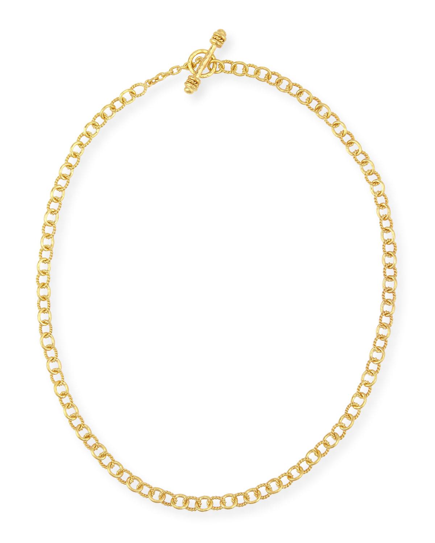 Tiny Sicilian 19K Gold Link Necklace