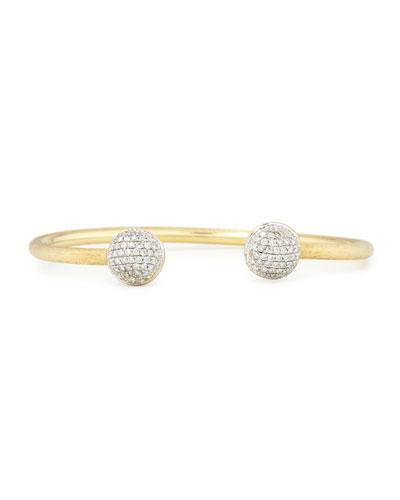 Africa 18K Gold Bangle with Pavé Diamonds