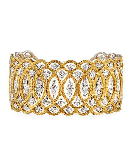 Buccellati Etoilee 18K Cuff Bracelet with Diamonds
