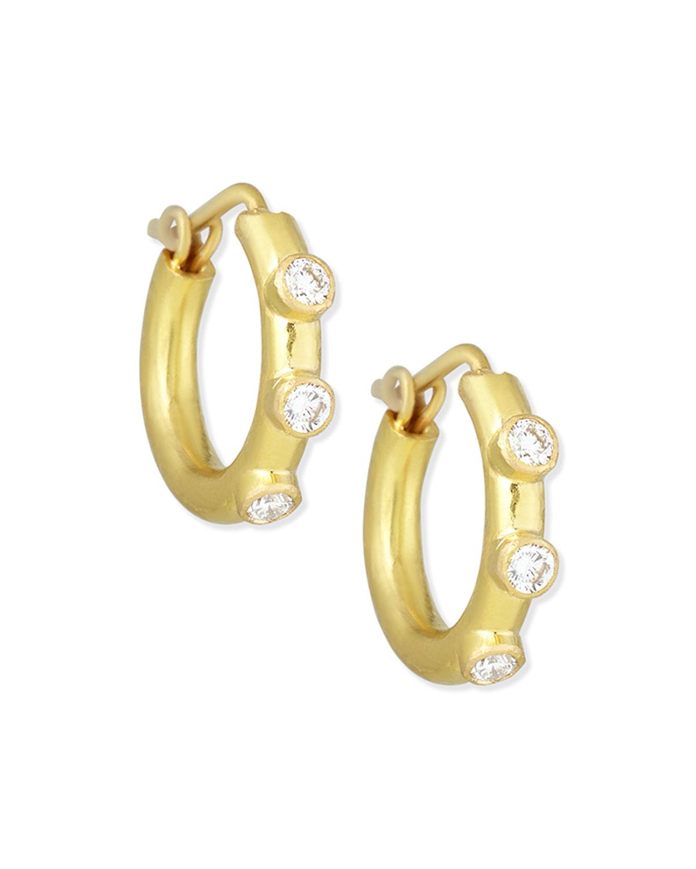 19K Big Baby Diamond Hoop Earrings