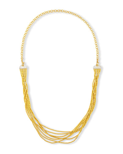 Vertigo Pave 24K Seven-Row Necklace