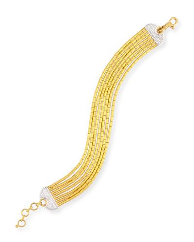 Vertigo Pave 24K Seven-Row Bracelet