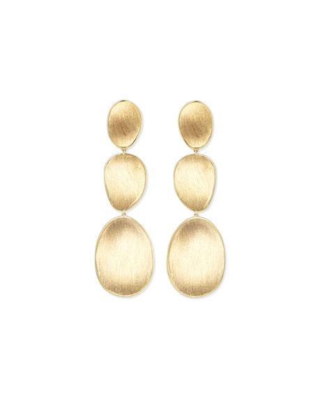 Marco Bicego 18K Lunaria Triple-Drop Earrings