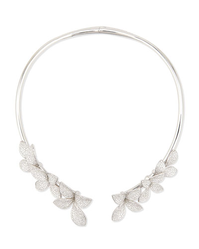 Giardini Segreti Pavé Diamond Collar Necklace