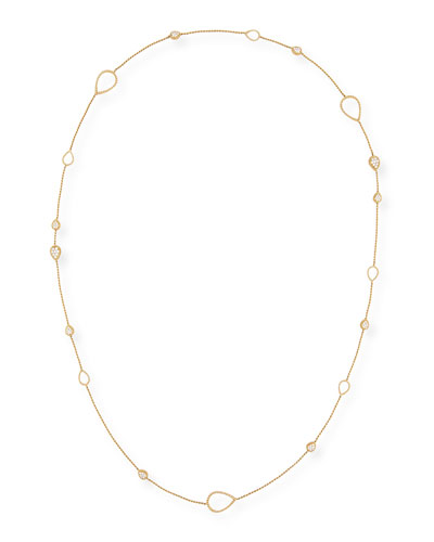 Serpent 18K Yellow Gold Diamond Station Necklace, 3.32 tdcw, 40