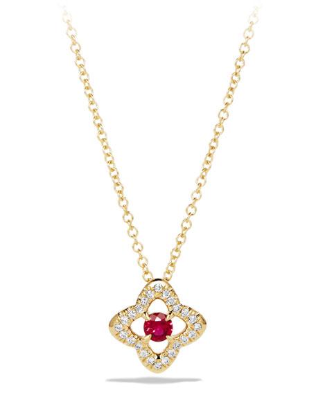 David Yurman 5mm Venetian Quatrefoil Ruby Necklace