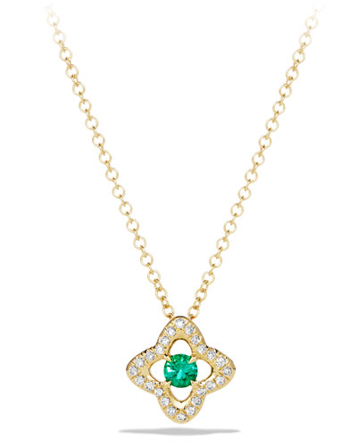 5mm Venetian Quatrefoil Emerald Necklace