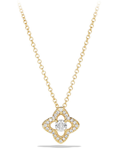 5mm Venetian Quatrefoil Diamond Necklace