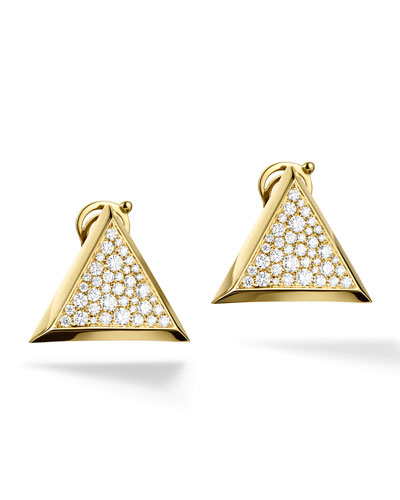 Triangoli Pavé Diamond Stud Earrings
