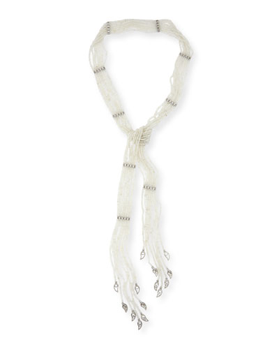 Vitality Diamond & Moonstone Lariat Necklace