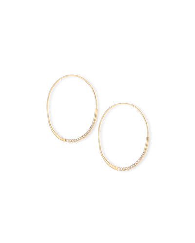 Medium Expose Wave Magic Diamond Hoop Earrings
