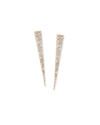 14K Expose Spike Stud Earrings with Diamonds