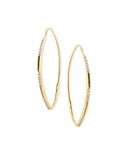 14K Small Expose Magic Hoop Earrings with Diamonds