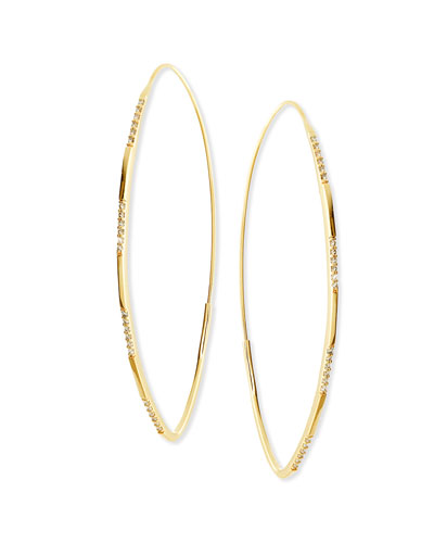 14K Large Expose Magic Hoop Earrings with Diamonds