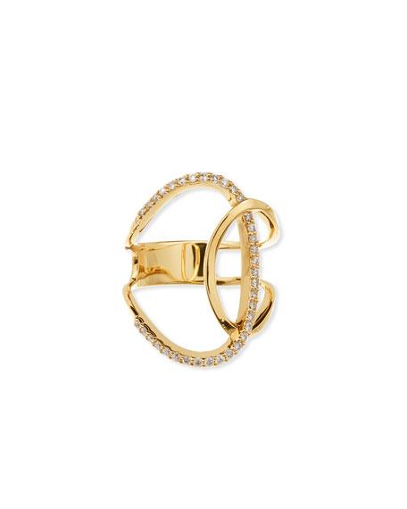 Lana 14K Expose Illuminating Ring with Diamonds, Size 7