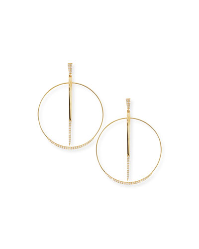 Expose Diamond Sheer Hoop Earrings