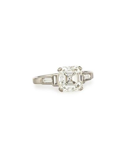 NM ESTATE Estate Art Deco Asscher-Cut Diamond Engagement Ring, Size 6.5