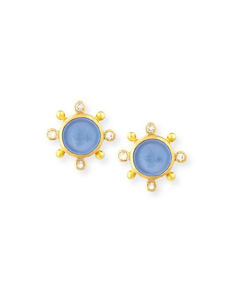 Elizabeth Locke 19K Tiny Bee Stud Earrings