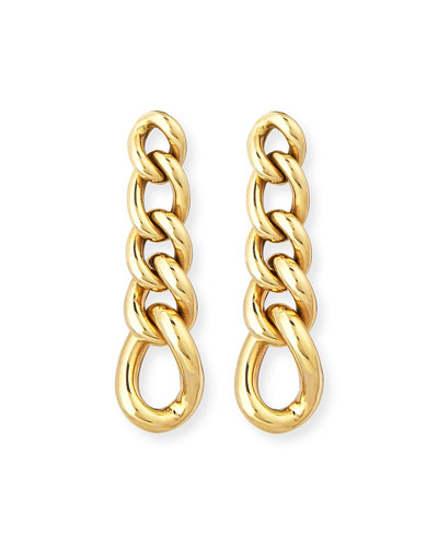 New Essentials 18K Curb Chain Earrings