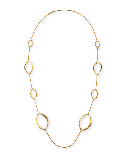 New Essentials 18K Open Link Necklace, 40