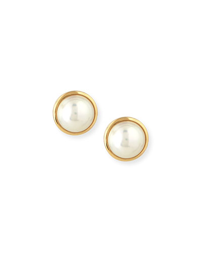 Kobe Logo Akoya Pearl Earrings