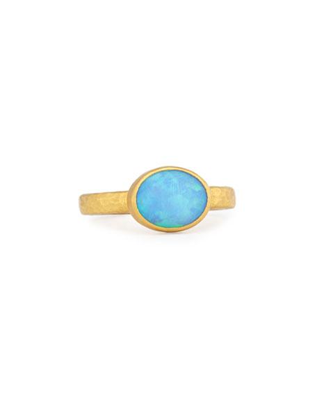 Gurhan 24K Opal Cabochon Amulet Ring, Size 6.5