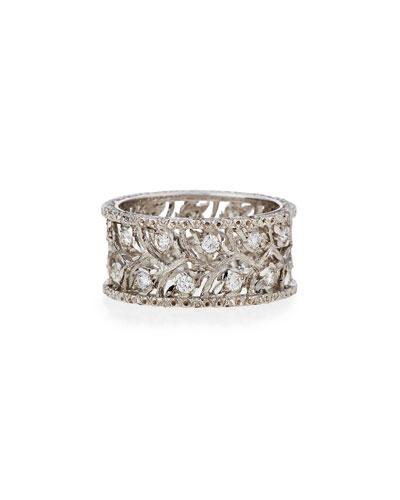 Ramage 18K White Gold Diamond Ring, 0.67 tdcw, Size 52
