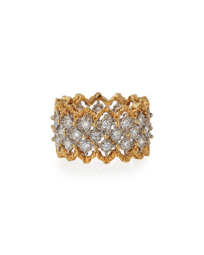 Rombi 18K Gold Diamond Ring, 1.02 tdcw, Size 54