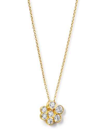 18K Glamazon Stardust Mini Pendant Necklace with Diamonds