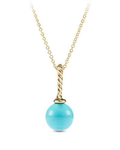 Solari 18K Gold & Turquoise Pendant Enhancer