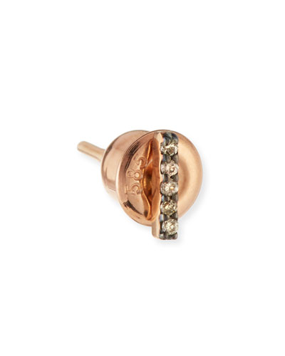 Lumiere 14K Rose Gold & Champagne Diamond Stick Earring