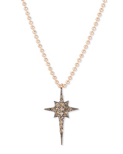Kismet Star 14K Rose Gold & Champagne Diamond Pendant Necklace