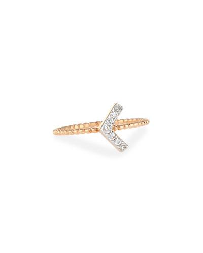 Sheriff Star Diamond Chevron Ring, Size 7