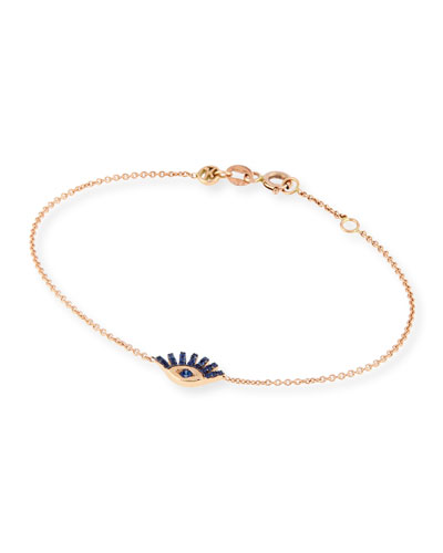 Quick Look Kismet By Milka Protect Me 14k Rose Gold Shire Evil Eye Bracelet
