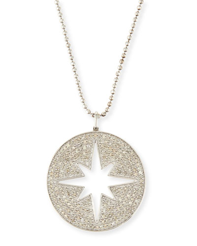 Large Cutout Pavé Diamond Starburst Pendant Necklace