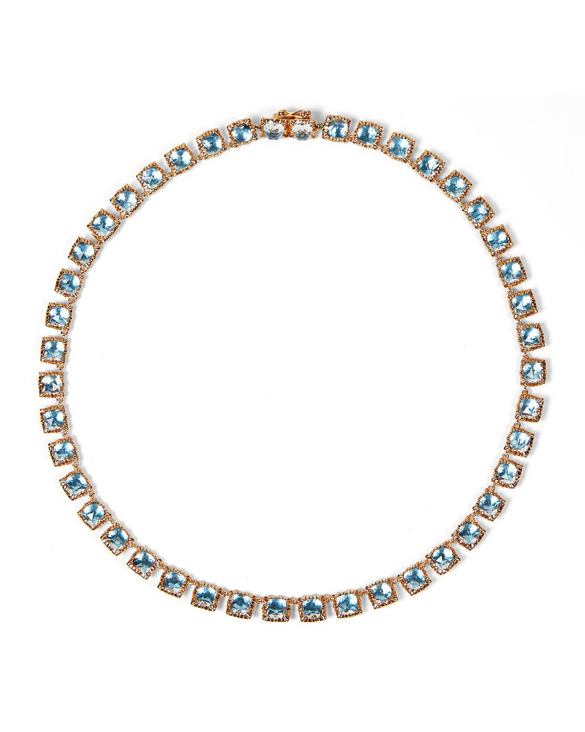 Bella Mini 18K Rose Gold-Washed Button Riviere Necklace