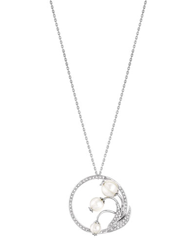Muguet Pearl & Diamond Pendant Necklace