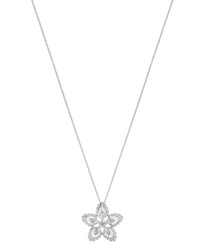 18K White Gold Lys Diamond Pendant Necklace