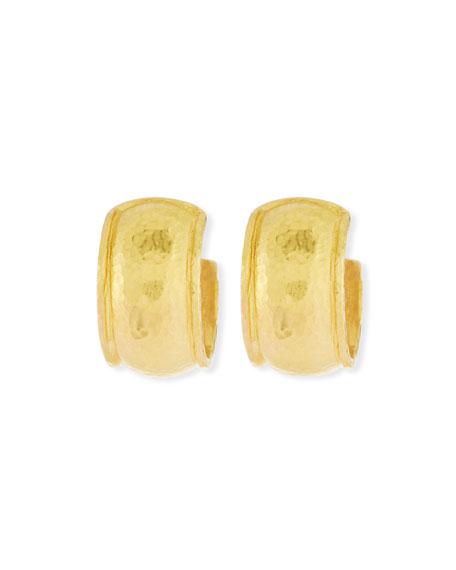 Elizabeth Locke 19K Baby Wide Curved Hoop Earrings