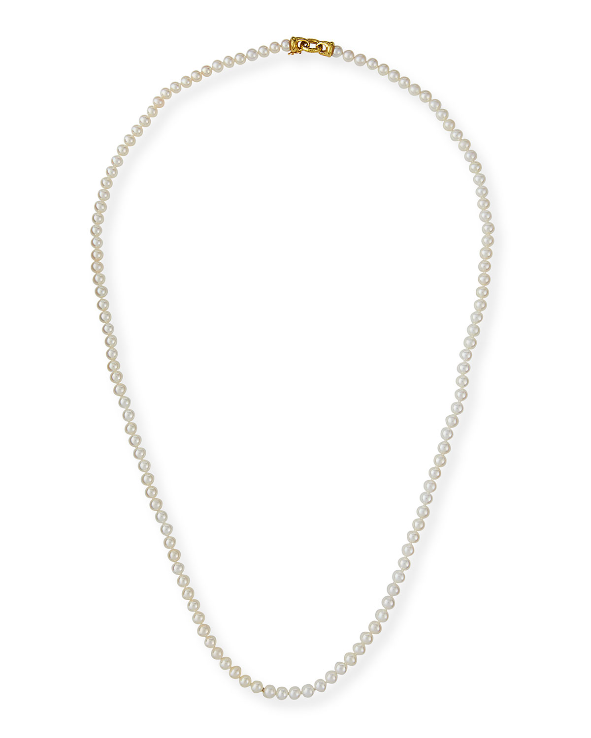 Serena Long Pearl Necklace, 35