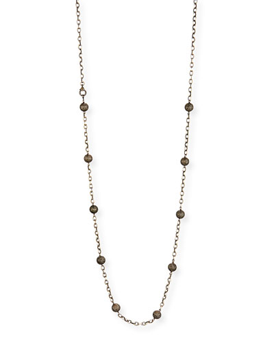 Pavé Champagne Diamond Ball Necklace