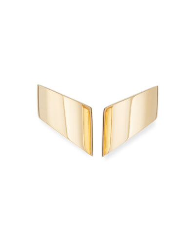 Vague 18K Rose Gold Earrings, Medium
