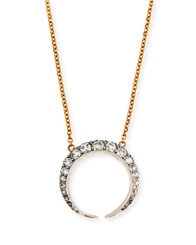 TURNER & TATLER 14K GOLD DIAMOND CRESCENT NECKLACE