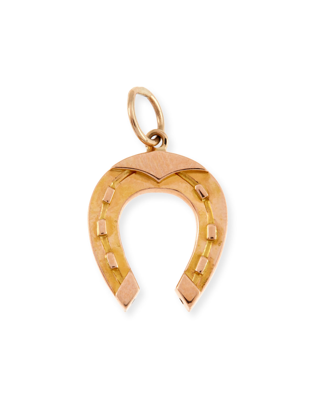14-Karat Gold Horseshoe Charm
