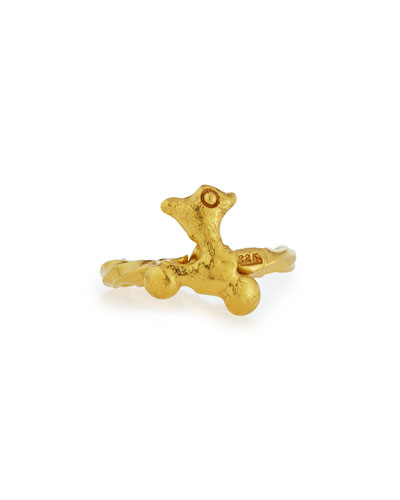 JEAN MAHIE Abstract 22K Gold Ring