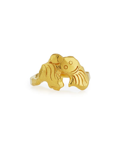 22K Gold Mini Monster Ring