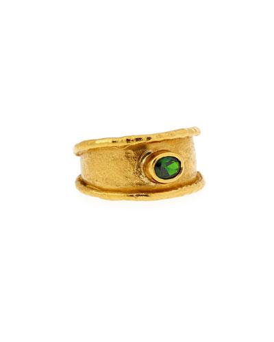 22K Gold Demantoid Garnet Ring