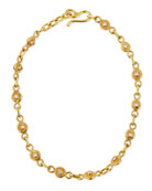 22K Gold Diamond Station Collar Necklace