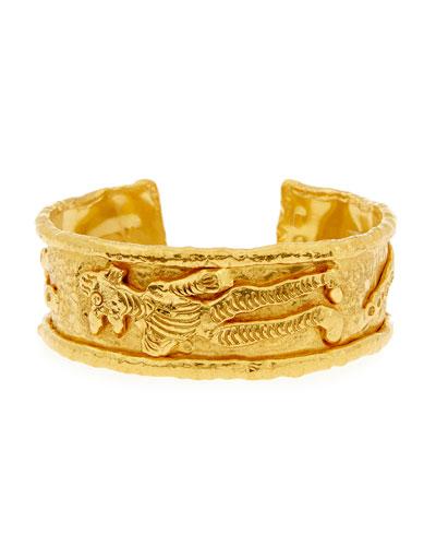 22K Gold Charming Monster Cuff Bracelet
