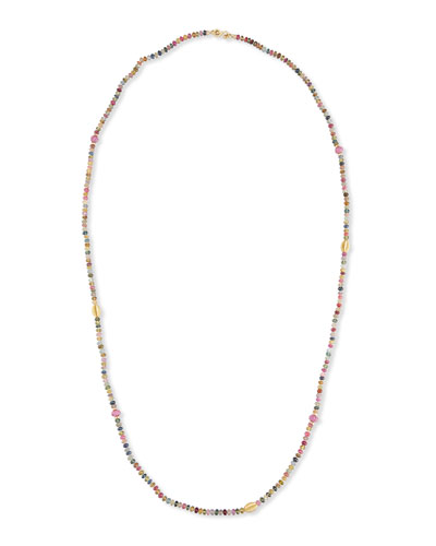 Single-Strand Multicolor Sapphire Necklace, 41